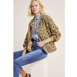Blank NYC Quilted Leopard Jacket Cheetah L